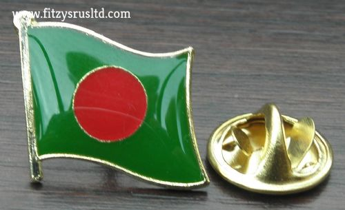Bangladesh Country Flag Lapel Hat Tie Pin Badge Gnoprojatontri Peoples Republic